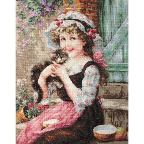 """Набор для вышивания крестом Luca-S """"Маленький котенок"""" (фото, вид 1)"""
