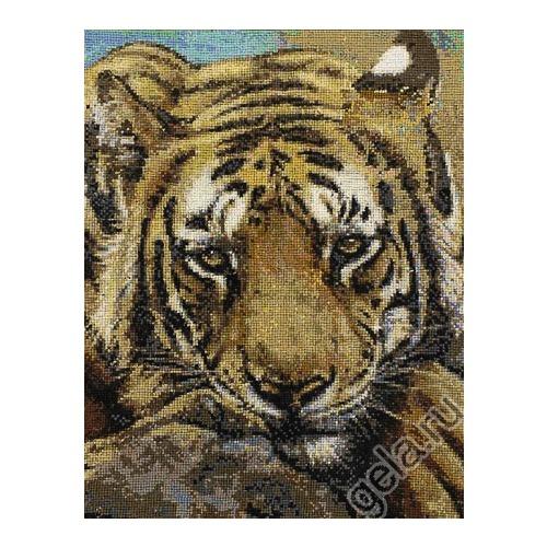 """Набор для вышивания крестом Kustom Krafts Inc. """"Сибирский тигр"""" (фото, вид 1)"""