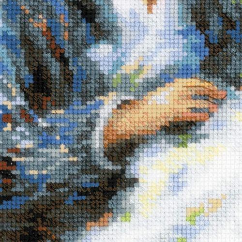 """Набор для вышивания крестом Риолис """"Мадам Моне за вышивкой (К. Моне)"""" (фото, вид 3)"""
