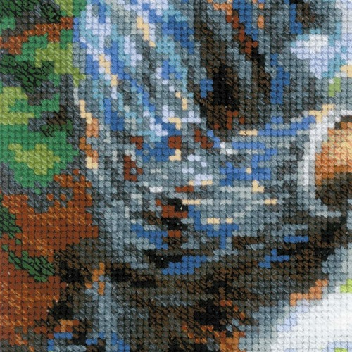 """Набор для вышивания крестом Риолис """"Мадам Моне за вышивкой (К. Моне)"""" (фото, вид 4)"""