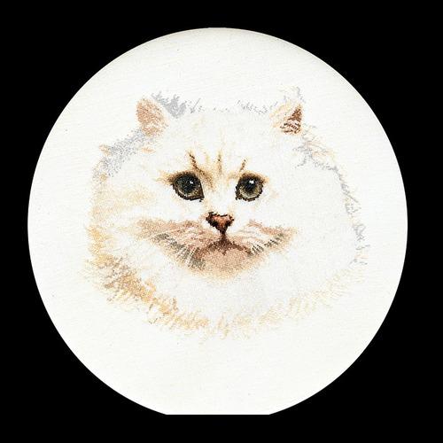 """Набор для вышивания крестом Thea Gouverneur """"Белый персидский кот"""" (фото, вид 1)"""
