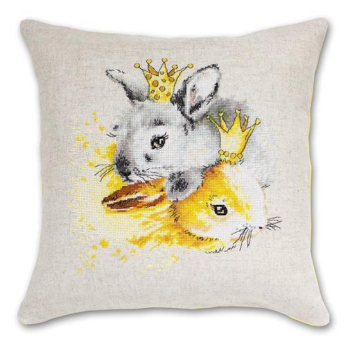"""Набор для вышивания крестом Luca-S """"Кролики"""" (фото, вид 1)"""