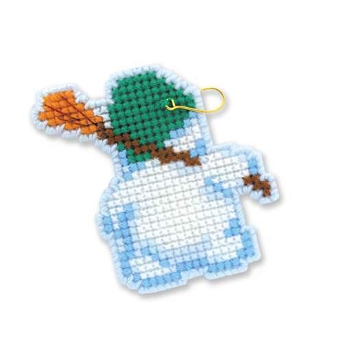 """Набор для вышивания крестом Риолис Новогодние игрушки """"Снеговички"""" (фото, вид 1)"""