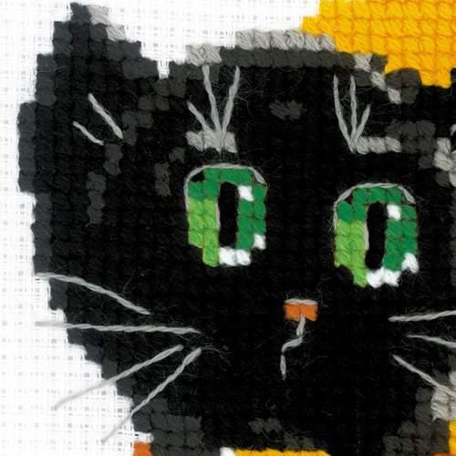 """Набор для вышивания крестом Риолис """"Черный кот"""" (фото, вид 1)"""