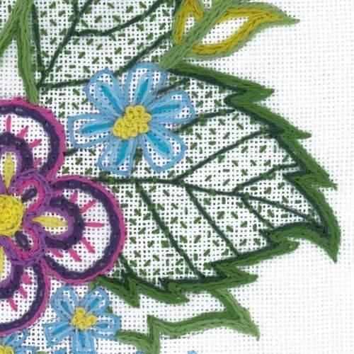 """Набор для вышивания Риолис """"Этюд с васильками"""" (фото, вид 3)"""