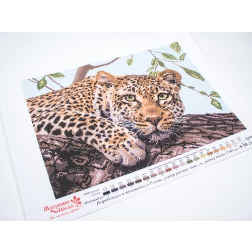 "Канва/ткань с нанесенным рисунком Матрёнин посад ""Леопард"" (фото, вид 1)"