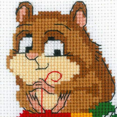 """Набор для вышивания крестом Риолис """"Какой хомяк без жабы"""" (фото, вид 1)"""