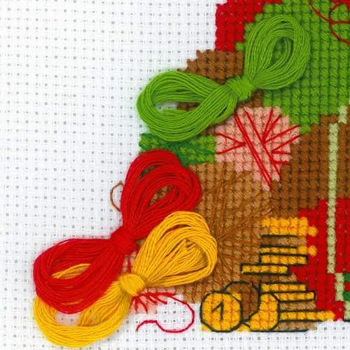 """Набор для вышивания крестом Риолис """"Какой хомяк без жабы"""" (фото, вид 2)"""