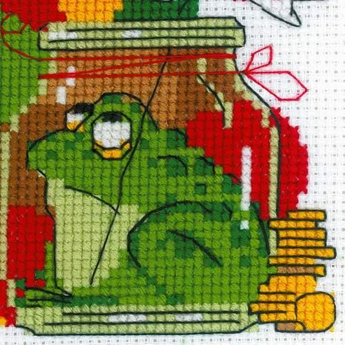 """Набор для вышивания крестом Риолис """"Какой хомяк без жабы"""" (фото, вид 3)"""