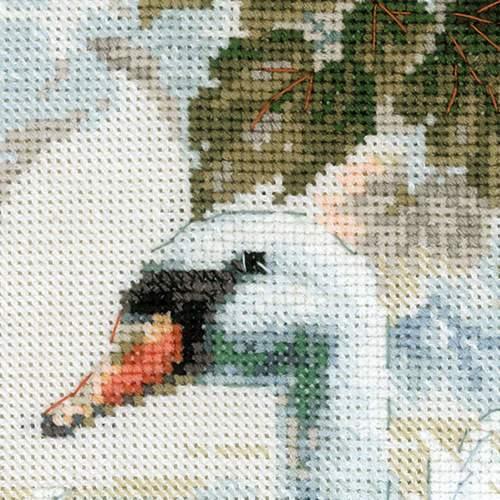 """Набор для вышивания крестом Риолис """"Белые лебеди"""" (фото, вид 3)"""