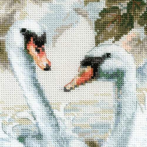 """Набор для вышивания крестом Риолис """"Белые лебеди"""" (фото, вид 4)"""
