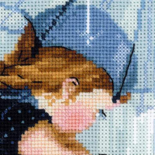 """Набор для вышивания крестом Риолис """"Дождик"""" (фото, вид 1)"""