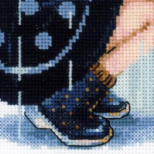 """Набор для вышивания крестом Риолис """"Дождик"""" (фото, вид 3)"""