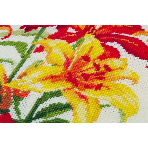 """Набор для вышивания крестом Риолис """"Солнечные лилии"""" (фото, вид 1)"""