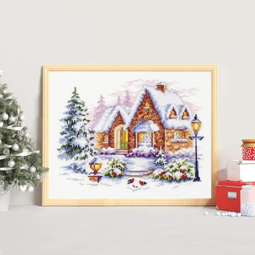 """Набор для вышивания крестом Чудесная игла """"Зимний домик"""" (фото, вид 2)"""