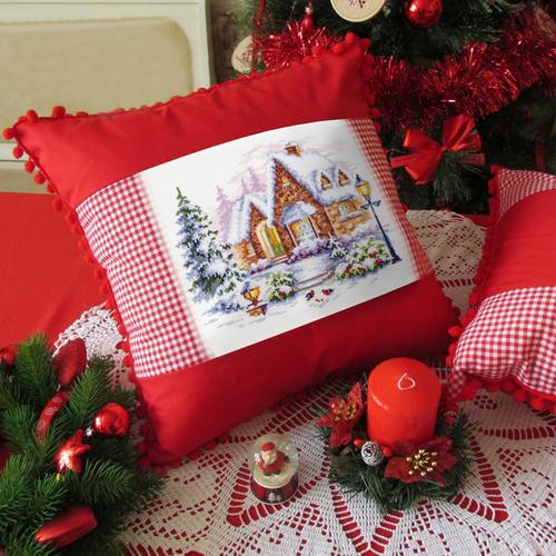 """Набор для вышивания крестом Чудесная игла """"Зимний домик"""" (фото, вид 4)"""