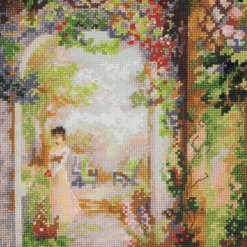 """Набор для вышивания крестом Риолис """"Свидание в саду"""" (фото, вид 3)"""