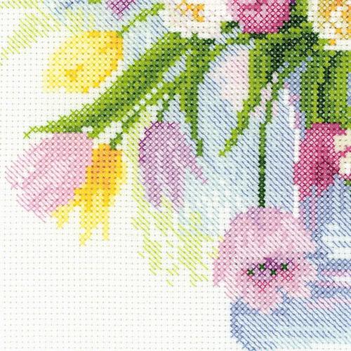 """Набор для вышивания крестом Риолис """"Акварельные тюльпаны"""" (фото, вид 2)"""