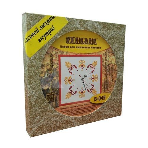 """Набор для вышивания бисером Zengana """"Часы. Осень"""" (фото, вид 1)"""