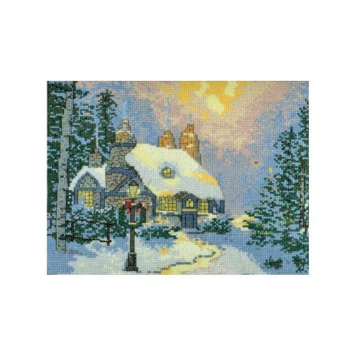 """Набор для вышивания крестом Candamar Designs """"Зимний домик"""""""