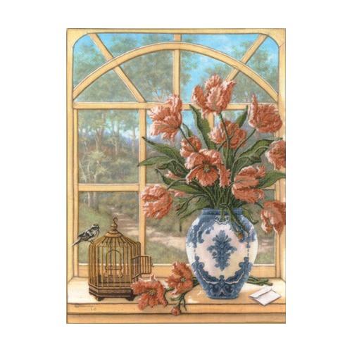 """Набор для вышивания крестом Candamar Designs """"Махровые тюльпаны"""""""
