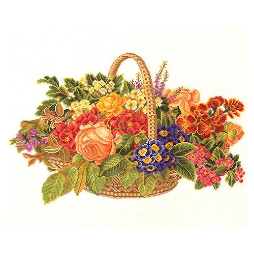 """Набор для вышивания крестом Eva Rosenstand """"Цветочная корзина"""""""