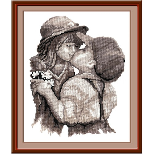"""Набор для вышивания крестом Овен """"Поцелуй"""""""