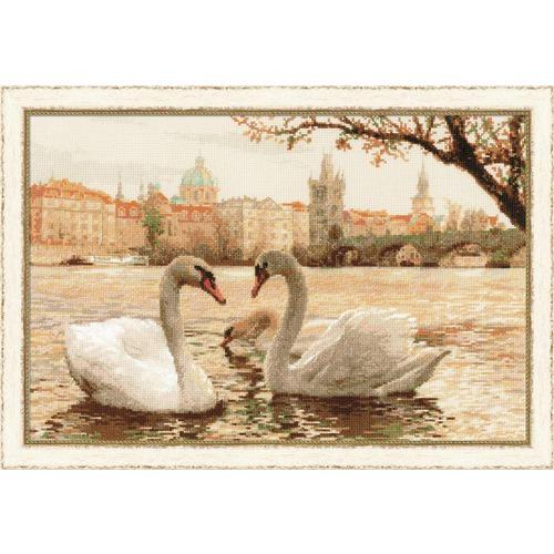 """Набор для вышивания крестом Риолис """"Лебеди. Прага"""""""