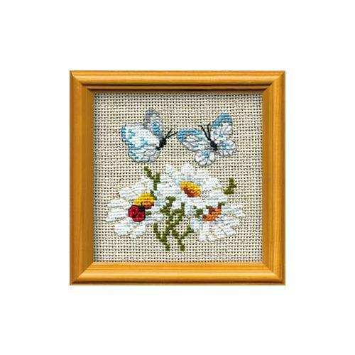 """Набор для вышивания крестом Риолис """"Ромашки с бабочками"""""""