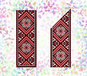 """Флизелин пришивной/клеевой confetti """"Чёрное и красное"""""""