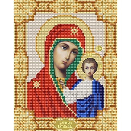 """Канва/ткань с нанесенным рисунком Конёк """"Казанская Богородица"""""""