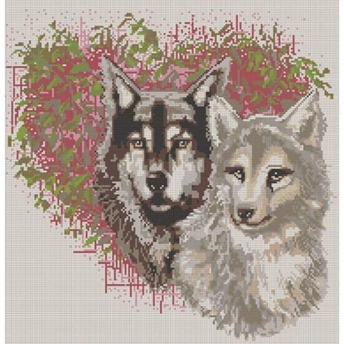 """Канва/ткань с нанесенным рисунком Конёк """"Волки"""""""