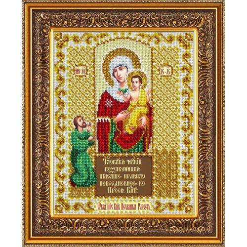 """Набор для вышивания бисером Паутинка """"Пресвятая Богородица Нечаянная радость"""""""