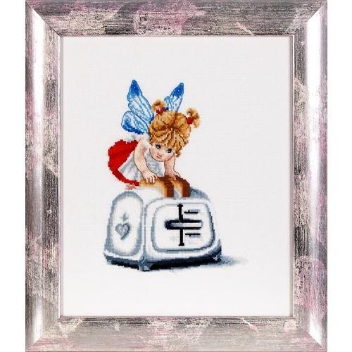 """Набор для вышивания крестом Alisena """"Феечка с тостером"""""""