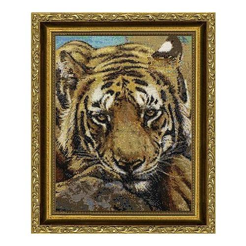 """Набор для вышивания крестом Kustom Krafts Inc. """"Сибирский тигр"""" (фото)"""