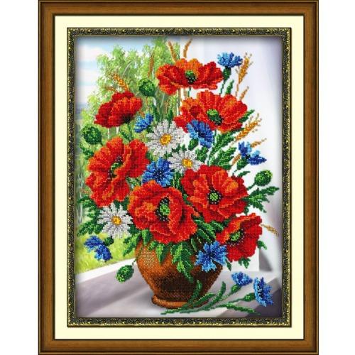 """Набор для вышивания бисером Паутинка """"Любимые цветы"""""""