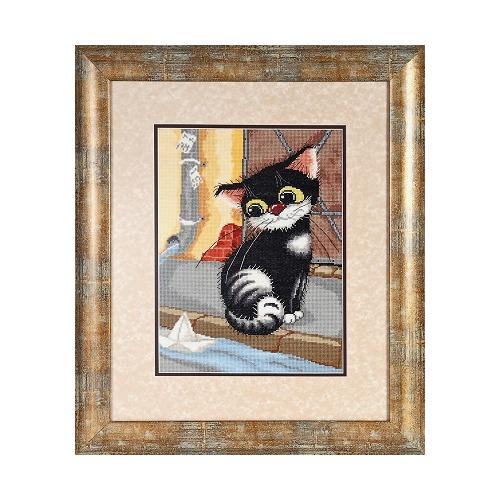 """Набор для вышивания крестом Alisena """"Котёнок"""""""