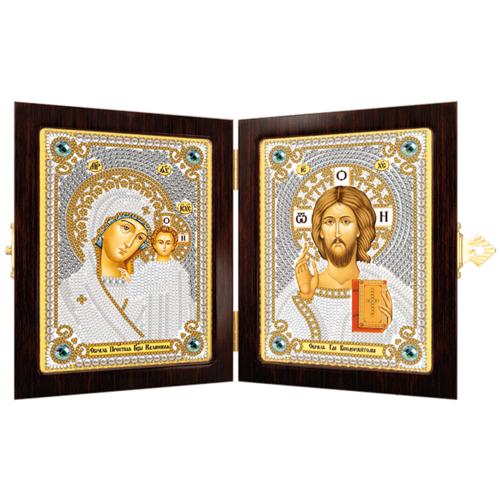 """Набор для вышивания бисером Nova sloboda """"Богородица Казанская и Христос Спаситель"""""""