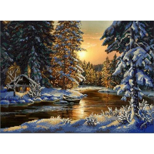 """Канва/ткань с нанесенным рисунком Конёк """"Мороз и солнце"""""""