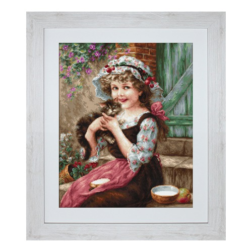 """Набор для вышивания крестом Luca-S """"Маленький котенок"""""""