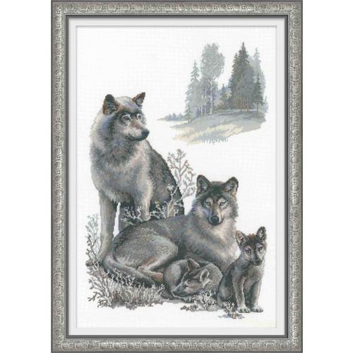 """Набор для вышивания крестом Риолис """"Волки"""""""