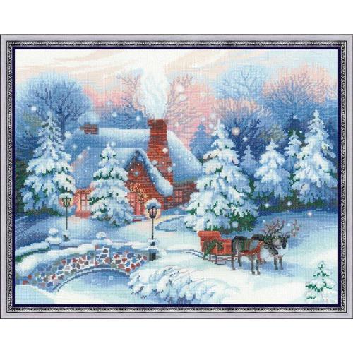 """Набор для вышивания крестом Риолис """"Накануне Рождества"""" (фото)"""