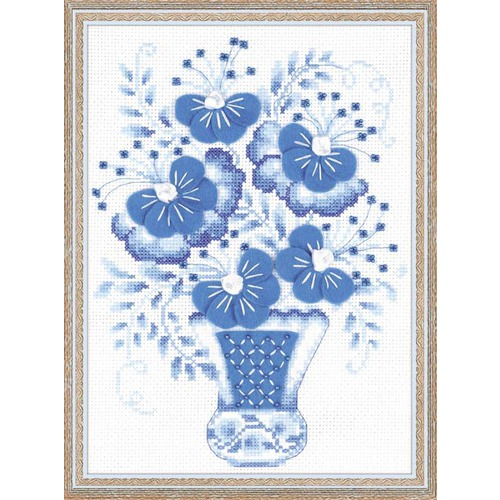 """Набор для вышивания крестом Риолис """"Голубой букет"""""""