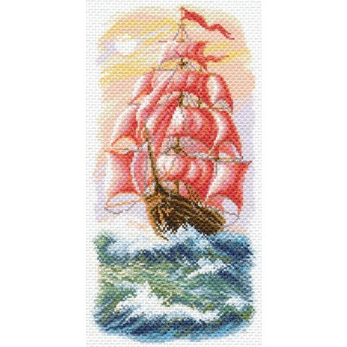 """Канва/ткань с нанесенным рисунком Матрёнин посад """"Алые паруса"""""""