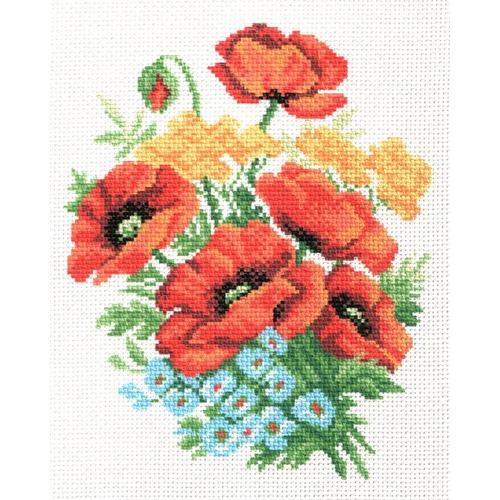 """Канва/ткань с нанесенным рисунком Матрёнин посад """"Букет цветов"""""""