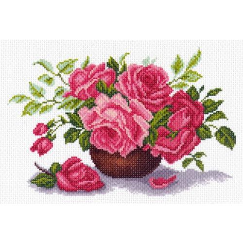 "Канва/ткань с нанесенным рисунком Матрёнин посад ""Букет роз"""