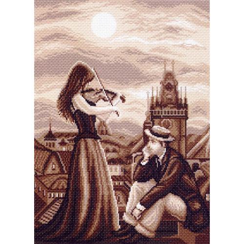 """Канва/ткань с нанесенным рисунком Матрёнин посад """"Мелодия в ночи"""""""