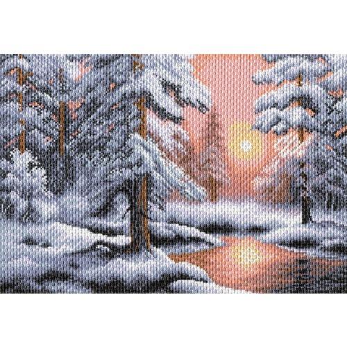 "Канва/ткань с нанесенным рисунком Матрёнин посад ""Морозная сказка"""
