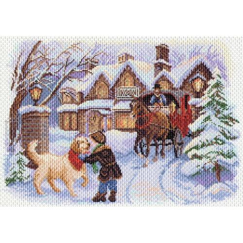 """Канва/ткань с нанесенным рисунком Матрёнин посад """"Рождественские каникулы"""""""