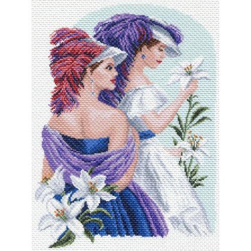 """Канва/ткань с нанесенным рисунком Матрёнин посад """"Девушки с лилиями"""""""